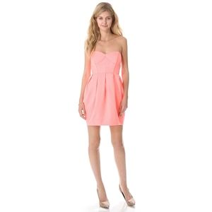 Shoshanna strapless sweetheart pink mini dress